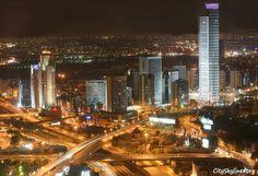 Tel Aviv Night City Skyline, Israel