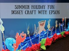 Summer Holiday craft activities with Disney and Epson, printable craft activities, finding Dory printable, kids craft,
