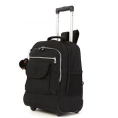 Kipling Sanaa Wheeled Backpack - Black - Kipling #kipling #ss16 #fashion