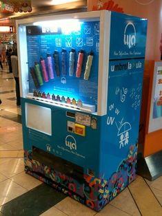 Most bizarre vending machines: umbrella