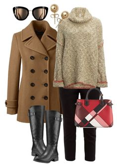 """""""Que venha o frio!"""" by ilse-gaedke on Polyvore featuring Lands' End, Ted Baker, Free People, Timberland, Burberry and Bling Jewelry"""