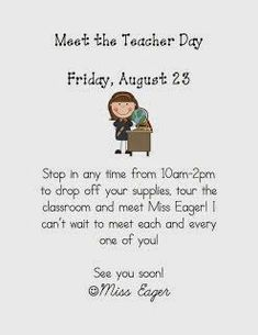 The Eager Teacher Welcome Letters For Parents  Printables