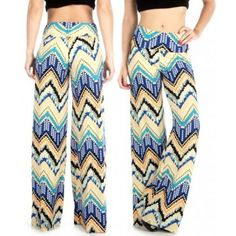 Digital #Chevron Pattern #Palazzo #Pants Reference:  FU1431  Available in S/M, L/XL, 2X/3X