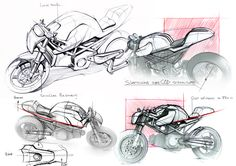 Motorcycle design project, design of a private racer. Cool Sketches, Drawing Sketches, Drawings, Sketching, Bike Sketch, Car Sketch, Conceptual Drawing, Motorbike Design, Concept Motorcycles