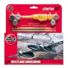 This Airfix model of the Westland Whirlwind Comrades in Arms of Squadron, RAF Marlock, in June Set includes Humbrol poly cement, 2 paint brushes and 6 acrylic paints. Westland Whirlwind, Airfix Models, Mk1, Things To Buy
