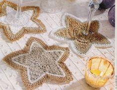 Tecendo Artes em Crochet: Porta Copos Estrela para a Mesa de Natal!