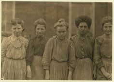 Adolescent Workers in Bibb Mill No. 1, Macon, Georgia by Lewis Hine
