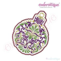 Christmas Ornate Ornment - 8 Sizes! | Christmas | Machine Embroidery Designs | SWAKembroidery.com Embroitique