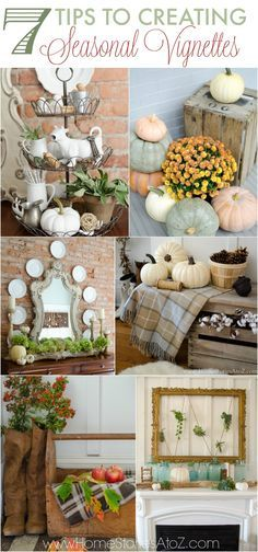 7 Tips to Creating Seasonl Vignettes