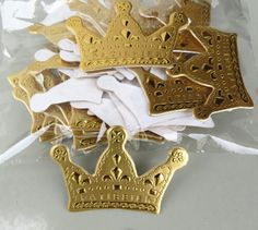 Romance Tales 100 Pack Card Cake Toppers Cafts Cake and Cupcake Birthday Wedding Baby Shower Festival Cake Toppers Decoration (Gold Crown) ** Check this awesome image @ - baking decorations