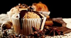 Mexican Chocolate Muffins Recipe from Divine Desserts Yummy Treats, Sweet Treats, Yummy Food, Macaron Bleu, No Bake Desserts, Dessert Recipes, Baking Cookbooks, Mexican Chocolate, Spiced Coffee