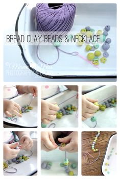 Awesome CLAY made out of BREAD!  Bread Clay Beads & Necklace {mama♥miss} ©2012