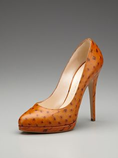 Casadei Ostrich Skin Pump  Beautiful, but probably painful.