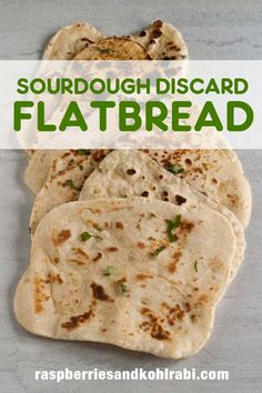Sourdough flatbread makes the perfect wrap or pizza. Use up your sourdough discard making this delicious flatbread. #Sourdough #Flatbread