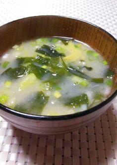 キャベツ&玉ねぎの味噌汁