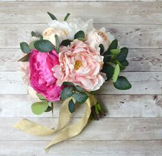 >> Click to Buy << Pink Real Touch Flowers Peony Bouquets for Wedding Peonies Bridal Bouquets Wedding Centerpieces Home Decoration #Affiliate