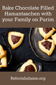 Celebrate Purim with these delectable chocolate filled hamantaschen!