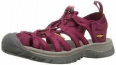 Keen Women's Whisper Sandal - Beet Red/Honeysuckle 10 M US Best Walking Sandals, Comfortable Walking Sandals, Walking Shoes, Fitbit, Best Water Shoes, Shoes For School, Natural Contour, Snakeskin Boots, Thing 1