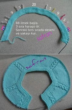 how to knitting children's blouse with knitted needles