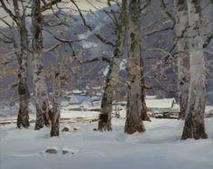 Буки зимой (Картина), 50x40 cm - Aleksander Babich Winter Painting, Painting Snow, Forest Painting, Oil On Canvas, Canvas Art, Original Art, Original Paintings, Famous Artists, Artist Painting