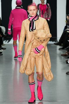 Sibling - Fall 2015 Menswear Sibling - Autumn Winter 2015-16 Men London Shows Pink and Biscuit colour Menswear