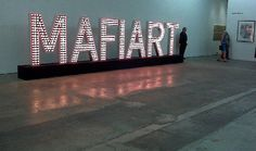 klaus Guingand artwork MAFIART is a word creates by Klaus Guingand in 1993 and an signe light artwork created in 2009.#iinstallation #contemporaryart