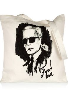 Karl Lagerfeld canvas tote, had to have this.