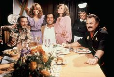 Mary Kay Place {2nd from left} with Brian Doyle Murray, Chevy Chase, Patty D'Arbenville, Nell Carter and Dabney Coleman in Modern Problems.