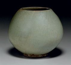 A rare green Junyao bud-form waterpot. Song-Jin Dynasty, 12th-13th century.