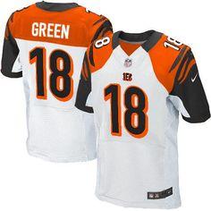 Nike NFL Cincinnati Bengals #18 A.J. Green Elite White Road Jersey Sale