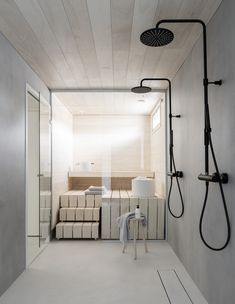 Dekolaku sauna & bathroom Bathroom inspiration from Deko Foto: Niclas Mäkelä Saunas, Bad Inspiration, Bathroom Inspiration, Bathroom Interior, Interior Design Living Room, Style At Home, Sauna Design, Sauna Room, Spa Rooms