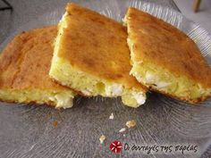 Lazy cheese pie (without filo) Recipe by Cookpad Greece Pureed Food Recipes, Greek Recipes, My Recipes, Cake Recipes, Cooking Recipes, Cheese Pies, Easy Cheese, Greek Cooking, Cooking Time