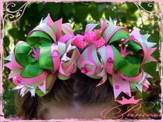 Very Big Hair Bows   How to Make Boutique Hair Bows Korkers Instructions   eBay