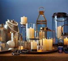 Meredith Brass Lanterns | Pottery Barn