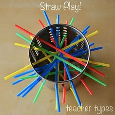 Fun with Straws   Simple Toddler Play   teacher types   Bloglovin