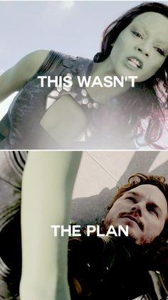 Gamora + Peter #marvel