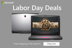 MICROSOFT LABOR DAY SALE!! Celebrate Labor Day at our Microsoft Store we have special deals on Dell PC's, Microsoft X-box games with FREE Shipping on purchases and returns. Hurry the Microsoft Labor Day Sale Ends 9/4 New Surface Pro, Special Deals, Microsoft, Product Launch, Free Shipping, Games, Store, Box, Tent