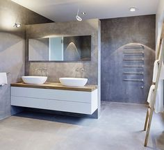 """""""While the #concrete walls and floor together with the #metal elements create an…"""