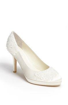 Wedding shoes - Menbur 'Gem' Pump available at #Nordstrom