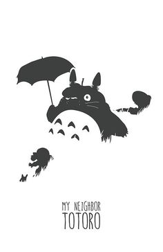 My Neighbor Totoro poster by Chris Marlow