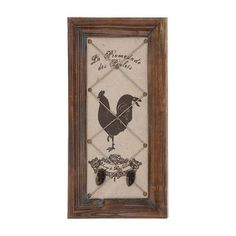 Woodland Imports Countryside Wall Hook Décor Memo Board