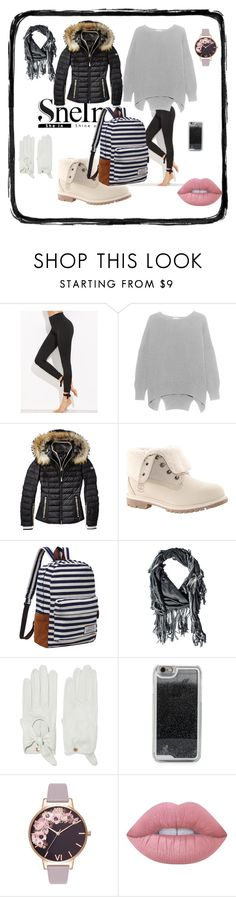 """""""Bez naslova #560"""" by arijana-cehic ❤ liked on Polyvore featuring Timberland, donni charm, Causse, LMNT, Olivia Burton and Lime Crime"""