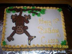 monkey with banana cake tree   monkey in tree — Birthday Cakes