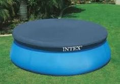 From the Manufacturer Intex easy set pool cover Round pool cover. Easy to use. Makes a snug fit over the edge of the pool. Drain holes to prevent water accumulation. Intex Above Ground Pools, Above Ground Pool Cover, Above Ground Swimming Pools, In Ground Pools, Backyard Trampoline, Backyard Pool Landscaping, Landscaping Tips, Backyard Ideas, Piscina Intex