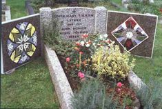 Grave of J.R.R. Tolkien. It's so cute that him and his wife have the names of Beren and Luthien under their names!