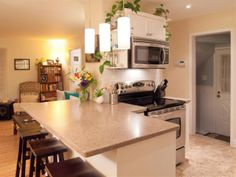 open concept kitchen/dining room/living room - small but lovely!