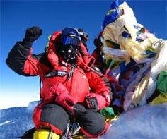 On top of the world (Everest)