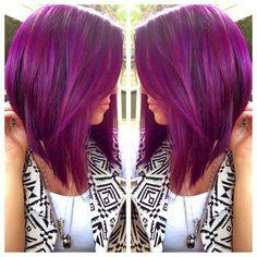 Short straight purple