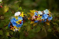 Hårspenner m/håndlagde blomster