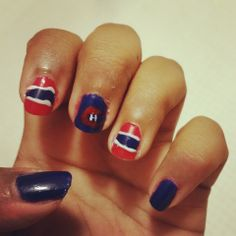 Montreal canadiens nail art gohabsgo nailart nailpolish montreal canadiens nails gohabsgo habs prinsesfo Image collections